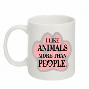 Mug 330ml I like animals more than people
