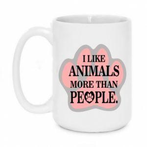 Kubek 450ml I like animals more than people - PrintSalon