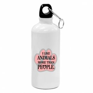 Water bottle I like animals more than people