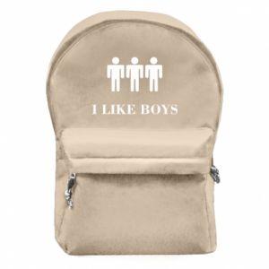 Backpack with front pocket I like boys
