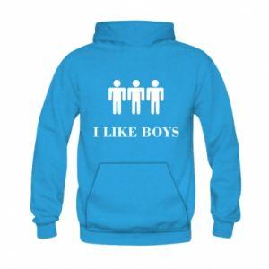Bluza z kapturem dziecięca I like boys