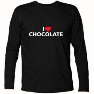 Koszulka z długim rękawem I like chocolate