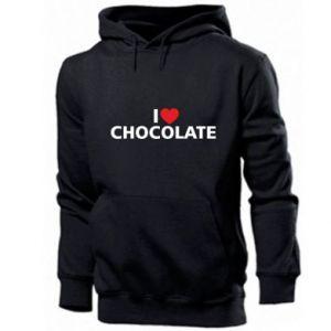 Męska bluza z kapturem I like chocolate