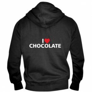 Męska bluza z kapturem na zamek I like chocolate