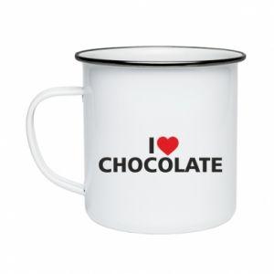 Kubek emaliowane I like chocolate