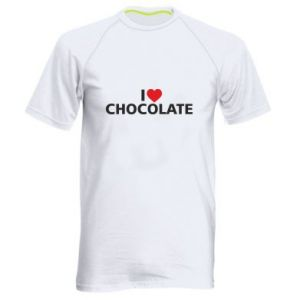 Męska koszulka sportowa I like chocolate