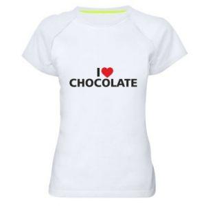 Damska koszulka sportowa I like chocolate