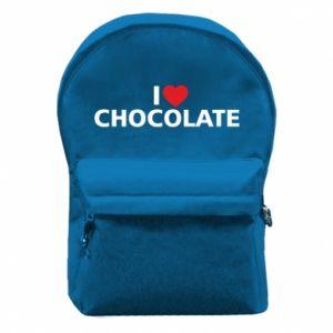 Plecak z przednią kieszenią I like chocolate