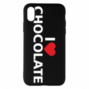 Etui na iPhone X/Xs I like chocolate