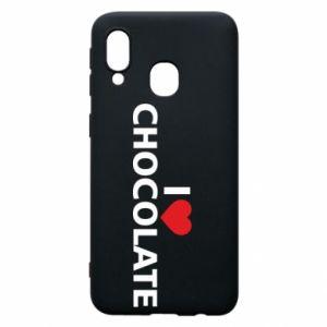 Etui na Samsung A40 I like chocolate