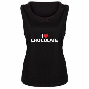 Damska koszulka bez rękawów I like chocolate