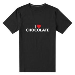 Męska premium koszulka I like chocolate