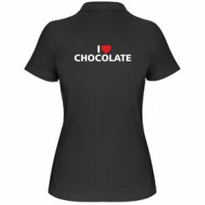 Damska koszulka polo I like chocolate