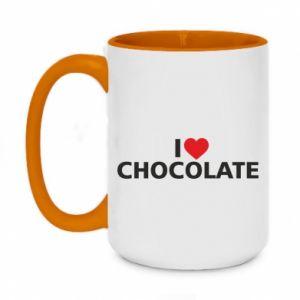 Kubek dwukolorowy 450ml I like chocolate