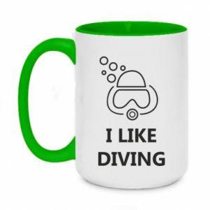 Kubek dwukolorowy 450ml I like diving