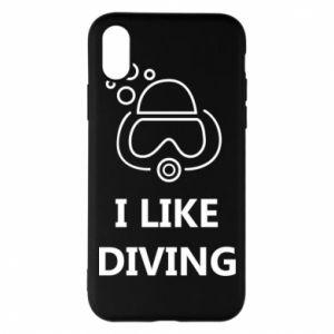 Etui na iPhone X/Xs I like diving
