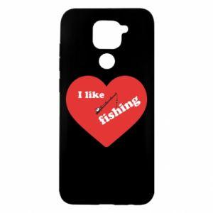 Xiaomi Redmi Note 9 / Redmi 10X case % print% I like fishing