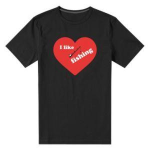 Men's premium t-shirt I like fishing