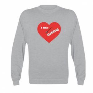 Kid's sweatshirt I like fishing