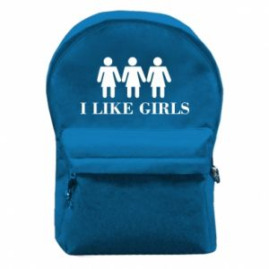Backpack with front pocket I like girls