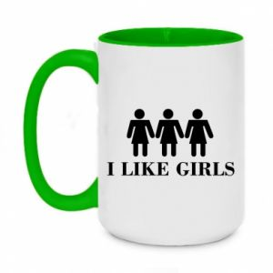 Kubek dwukolorowy 450ml I like girls