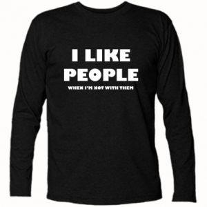 Koszulka z długim rękawem I like people