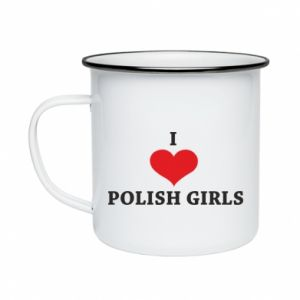 Kubek emaliowany I like polish girls