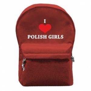 Plecak z przednią kieszenią I like polish girls