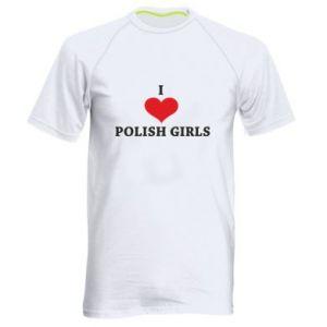 Koszulka sportowa męska I like polish girls