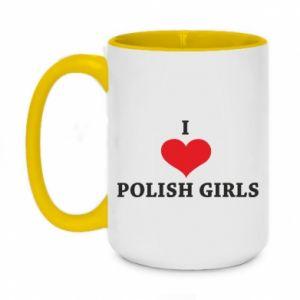 Kubek dwukolorowy 450ml I like polish girls