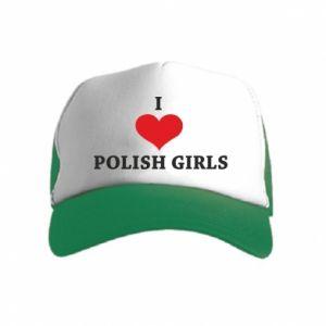 Czapka trucker dziecięca I like polish girls