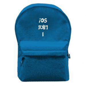 Plecak z przednią kieszenią I like so!