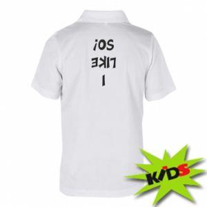Dziecięca koszulka polo I like so!