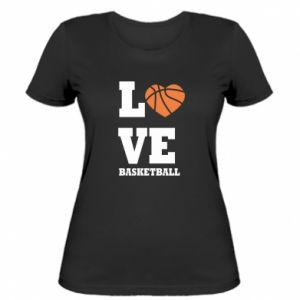 Women's t-shirt I love basketball