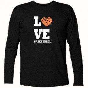 Koszulka z długim rękawem I love basketball - PrintSalon