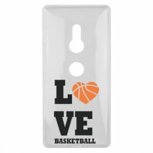 Sony Xperia XZ2 Case I love basketball