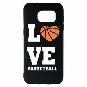 Samsung S7 EDGE Case I love basketball
