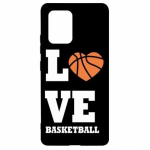 Samsung S10 Lite Case I love basketball