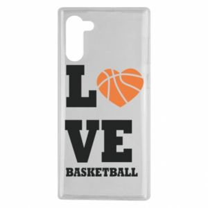 Samsung Note 10 Case I love basketball