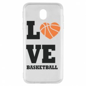 Samsung J7 2017 Case I love basketball