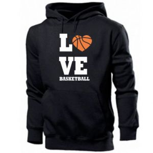 Men's hoodie I love basketball