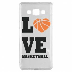 Samsung A5 2015 Case I love basketball