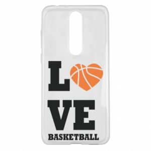 Nokia 5.1 Plus Case I love basketball