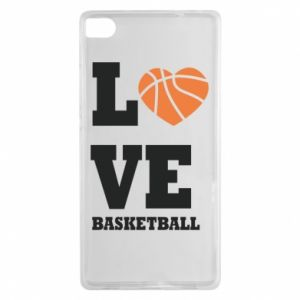 Huawei P8 Case I love basketball