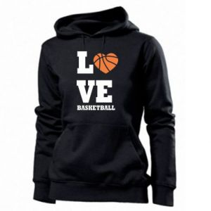 Women's hoodies I love basketball