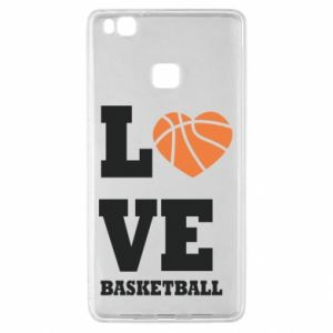 Huawei P9 Lite Case I love basketball
