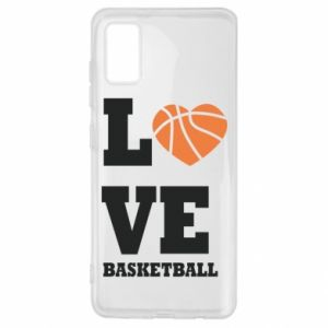 Samsung A41 Case I love basketball