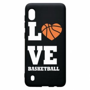Samsung A10 Case I love basketball