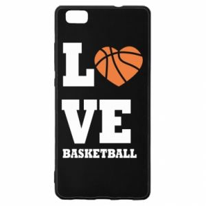 Huawei P8 Lite Case I love basketball