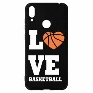 Etui na Huawei Y7 2019 I love basketball
